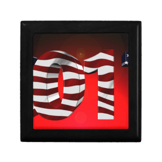 Red New-Years-Day Small Square Gift Box