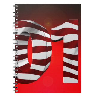 Red New-Years-Day Spiral Notebook