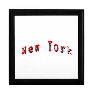 Red New York Jewelry Box