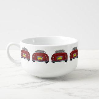 Red Nissan Figaro Big Soup Mug