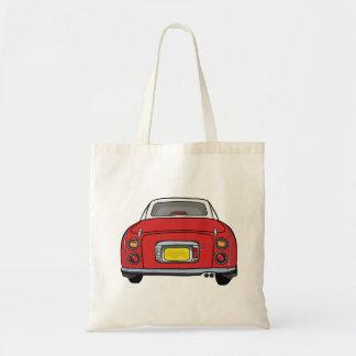 Red Nissan Figaro Car Tote Bag