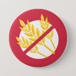 Red No Gluten or Wheat Allergy Alert Celiac Kids 7.5 Cm Round Badge