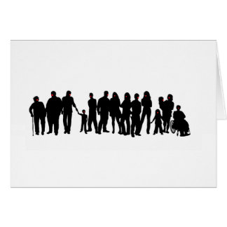 Red Nose people design Card