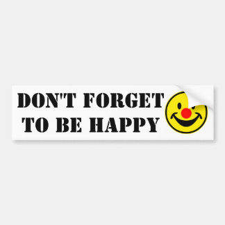 Red Nose Smiley - yellow + your ideas Bumper Sticker
