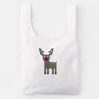Red Nosed Reindeer Baggu Reusable Bag