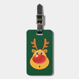 Red Nosed Reindeer Luggage Tag