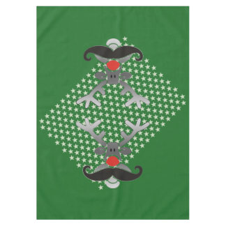 Red Nosed Rudolph with Moustache + your idea Tablecloth