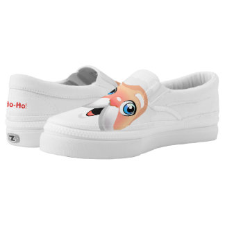 Red Nosed Santa Claus Slip On Shoes