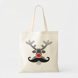 Red Nosed with Moustache Budget Tote Bag
