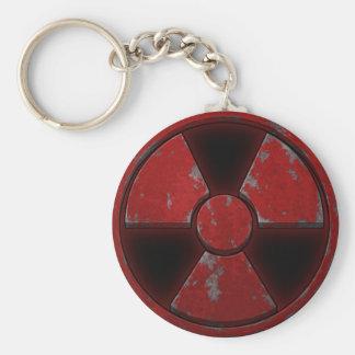 Red Nuke Basic Round Button Key Ring