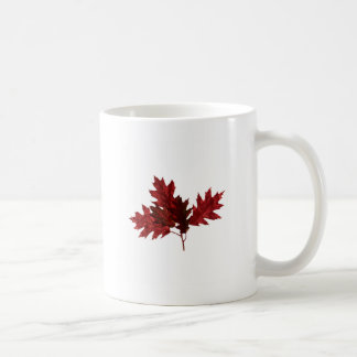 Red Oak Leaves Coffee Mug
