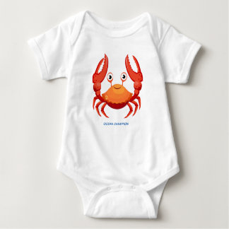 Red Ocean Crab Baby Bodysuit