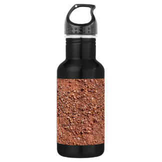 Red ochre sand and pebbles 532 ml water bottle