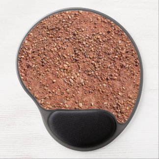 Red ochre sand and pebbles gel mouse pad