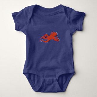 Red Octopus Baby sleeper Baby Bodysuit
