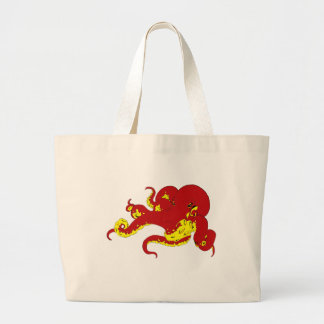 Red Octopus Tote Bags