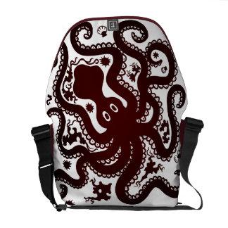 Red Octopus Messenger Bag