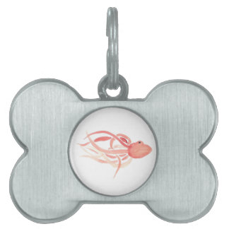 Red Octopus Pet ID Tag