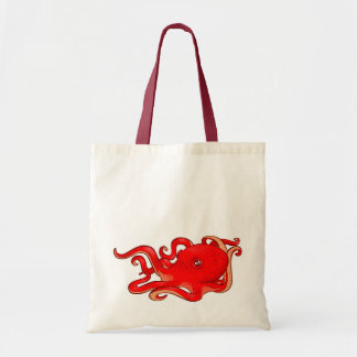 Red Octopus Budget Tote Bag