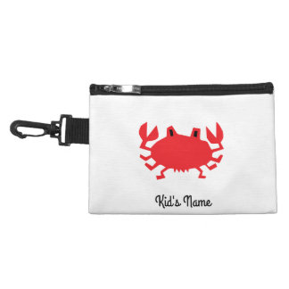 Red of sea crab accessory bag