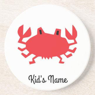 Red of sea crab coaster
