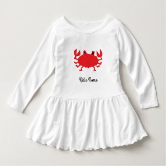 Red of sea crab dress