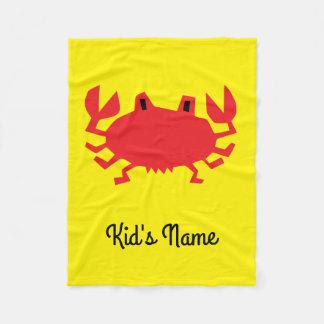 Red of sea crab fleece blanket