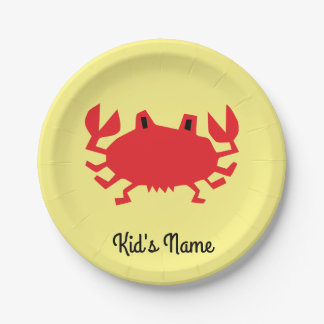 Red of sea crab paper plate