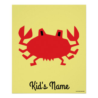 Red of sea crab poster