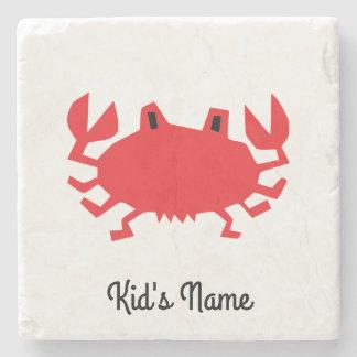 Red of sea crab stone coaster