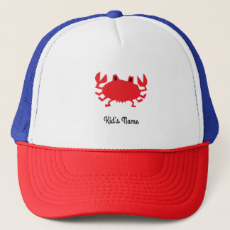 Red of sea crab trucker hat