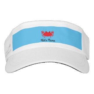 Red of sea crab visor