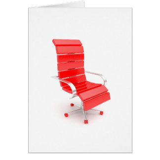 Red Office Chair Greeting Cards