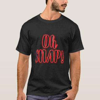 Red  Oh SNAP! Glow Neon T shirt