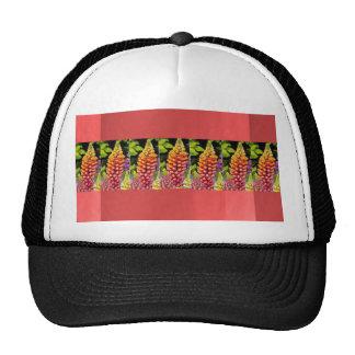 Red Oil painted wall print n Flower Strip Gift bi Trucker Hat