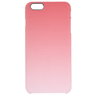 Red Ombre Clear iPhone 6 Plus Case