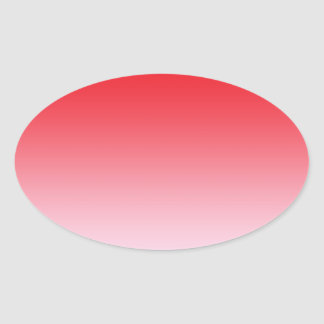 Red Ombre Oval Stickers