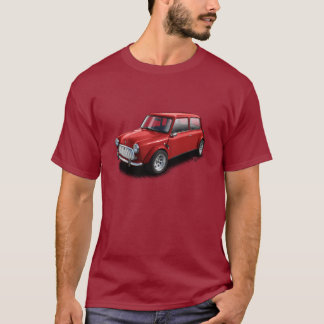 Red on Maroon Classic Mini Car T-Shirt