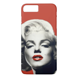 Red on Red Lips Marilyn iPhone 7 Plus Case