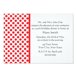 Red on White Polka Dot Card