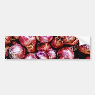 Red Onion Bumper Sticker