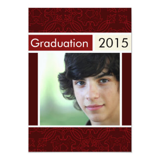 "Red Open House Party Graduation Invitations 5"" X 7"" Invitation Card"