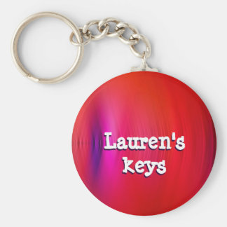 Red Optical Key Ring