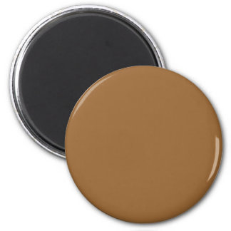 Red-Orange #996633 Solid Color 6 Cm Round Magnet