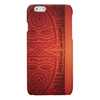 Red & Orange African Pattern Design