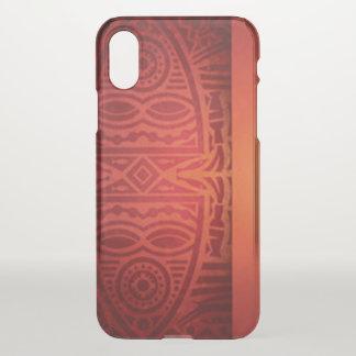 Red & Orange African Pattern Design iPhone X Case