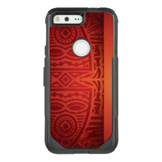 Red & Orange African Pattern Design OtterBox Commuter Google Pixel Case