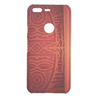 Red & Orange African Pattern Design Uncommon Google Pixel Case