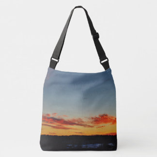 Red, Orange and Blue Sunset Sky Tote Bag