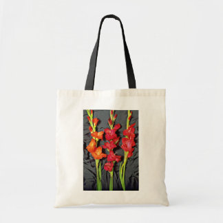Red, orange and scarlet gladiolus  flowers